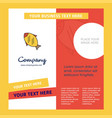 fish company brochure template busienss template vector image vector image