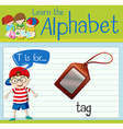 Flashcard letter T is for tag vector image vector image
