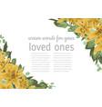 floral invitation invite model watercolor style vector image vector image