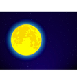 Full moon on night sky vector image