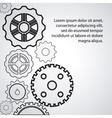 gear white cog machine part set design vector image vector image