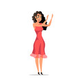 girl in red dress flat vector image vector image