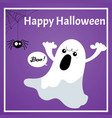 halloween background with boo and happy halloween vector image vector image