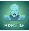Halloween Party Sea Monster Role Character Bust vector image vector image