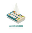 isometric yachting banner vector image