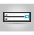 login interface username and password vector image vector image