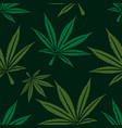 marijuana leaf seamless pattern vector image