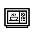 microwave outline icon vector image vector image