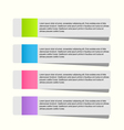Modern infographic stickers design template vector image