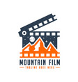 mountain film production logo vector image vector image