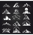 Mountain silhouettes on blackboard background vector image