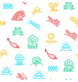 natural disaster signs thin line seamless pattern vector image vector image