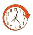 orange wall clock icon image vector image
