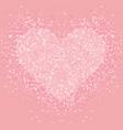 pastel pink glitter heart shimmer love vector image vector image