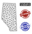 polygonal network mesh map of alberta vector image vector image