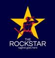 rockstar man symbol version 2 vector image vector image