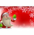 santa christmas border background vector image vector image