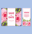 save date wedding invitation templates set vector image vector image