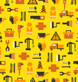 Seamless pattern with building equipment vector image