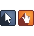 set hand and arrow cursors vector image