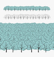 set of elements tree and forest vector image vector image