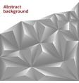 Silver Polygonal vector image vector image