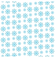 Snowflake seamless pattern Snowflake background vector image