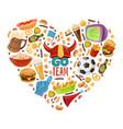 sport bar heart vector image