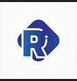 square symbol letter r design minimalist vector image vector image