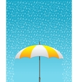 striped opened umbrella vector image