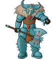 strong cartoon viking vector image
