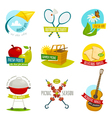 Summer picnic objects set outdoor holiday activity vector image vector image