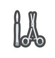 surgeons tools scalpel scissors icon vector image