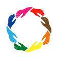 Teamwork hands vector image vector image