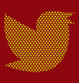 twitter bird on a background vector image vector image