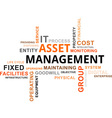 word cloud asset management vector image vector image