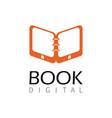 book digital logo vector image