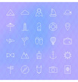 Line Travel Icons Set vector image