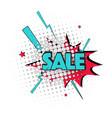 lettering sale emotion surprise pop art text vector image