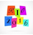 Rio 2016 from Color Paper over white vector image