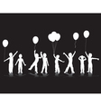 children playing silhouettes vector image