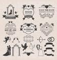 vintage labels set for wedding invitation vector image