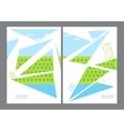Green eco flyer design vector image
