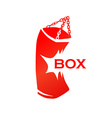 Red punching bag with caption vector image