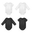 baby black and white bodysuit set vector image