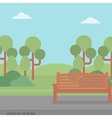 Background of park with bench vector image vector image