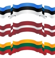 banners and flags of baltic states vector image vector image