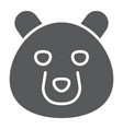 bear glyph icon animal and zoo vector image vector image