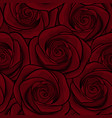 beautiful seamless background with red roses vector image vector image