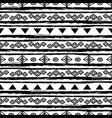 black and white tribal seamless repeat pattern vector image